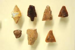 punte di freccia in selce rinvenute nella laguna di Marano; Museo Archeologico della Laguna di Marano