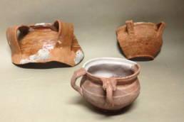 Scaldini rinvenuti nella laguna di Marano; museo archeologico della laguna di Marano