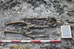 tomba rinvenuta sull'isola dei Bioni, nella laguna di Marano, museo della laguna