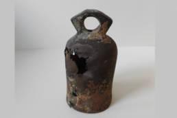 campanello d'epoca romana, presso la collezione del Museo Archeologico di Marano Lagunare, museo della laguna